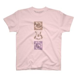 ヲシテ文字『アウワ』 T-shirts
