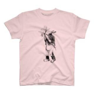 グランヴィル「ウサギ」 <アンティーク・プリント> T-shirts