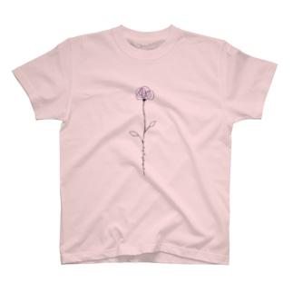 フラワーデザイン「ROSE」 T-shirts