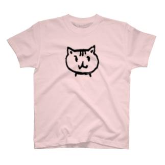 """テクオリちゃんの""""ラッキーフェイス""""淡色T T-shirts"""