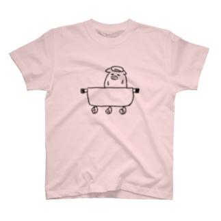 煮込まれるブタ T-shirts