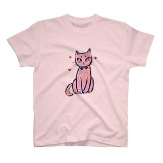 ピーチ 猫 T-shirts