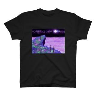 絵画「幻想の海」 Tシャツ