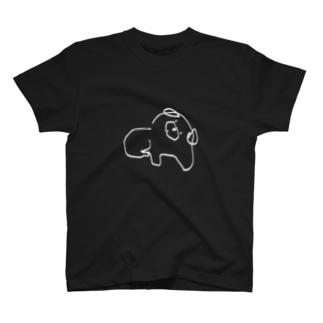 しろいいぬ Tシャツ