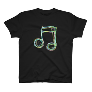 レインボー8分音符 Tシャツ