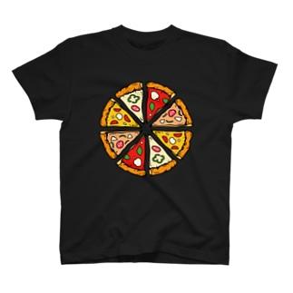 わらしべ ピザ 1ホール Tシャツ Tシャツ