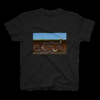 zentoyの「獅子として生きる」フェネック -迷路-Tシャツ