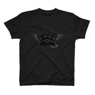Ryoku のRyoku-Knuckle devil b-black Tシャツ