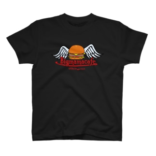 Bigmamacafe ハンバーガーロゴ Tシャツ