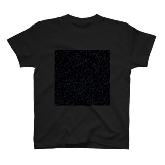 にゃんこず(黒) Tシャツ