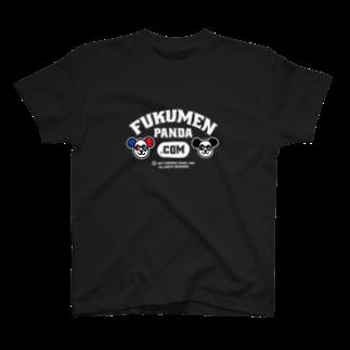 fukumenpandaの覆面パンダ夫婦Tシャツ(Bver)16色Tシャツ