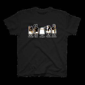 とーとつにエジプト神 名前つき 5柱 Tシャツ
