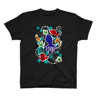 タコさんと踊ろう Tシャツ