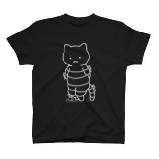 ボンレスニャン(白線) Tシャツ