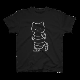 PygmyCat suzuri店のボンレスニャン(白線) Tシャツ