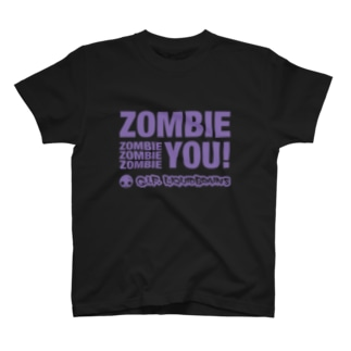 Zombie You!(purple print) Tシャツ