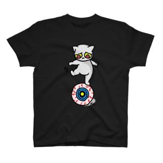 目玉乗りねこちゃん Tシャツ