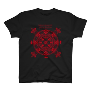 猫召喚魔法陣(赤線) Tシャツ