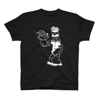 明季 aki_ishibashiの憂鬱なふたり Tシャツ