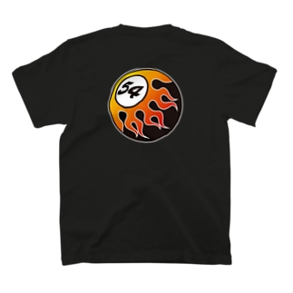 FIFTY-FOUR FIRE BALL RED T-shirts
