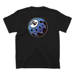 FIFTY-FOUR FIRE BALL BLUE  T-shirts