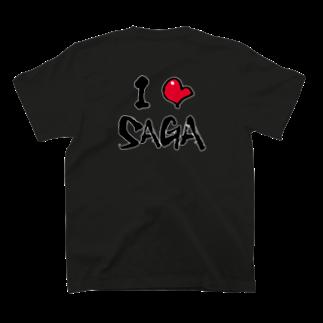 字書きの江島史織ですのI ♡ SAGA T-shirtsの裏面