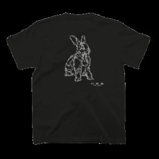 HELLL - ヘル - の左手で描いたウサギB(バックプリント) T-shirts