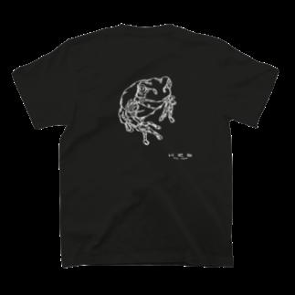 HELLL - ヘル - の左手で描いたカエルB(バックプリント) T-shirts