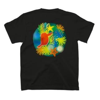 ハナとアカショウビン T-shirts