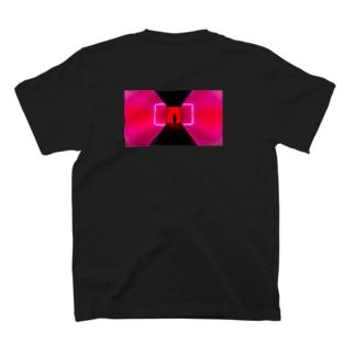 ネオン3 バックプリント T-shirts