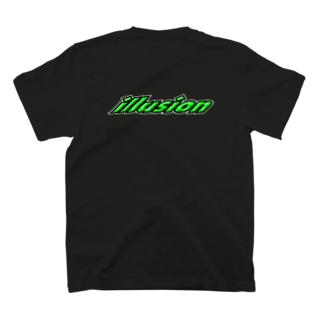 立体グリーン(バック) T-shirts
