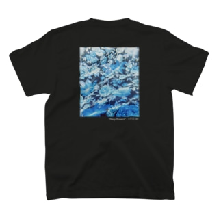 Navy flowers T-shirts