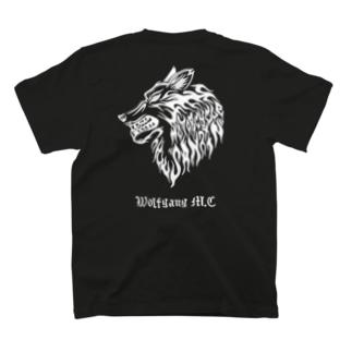 狼tシャツ 黒 T-shirts