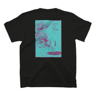 fika(ん)バックプリント(ポップ) T-shirts