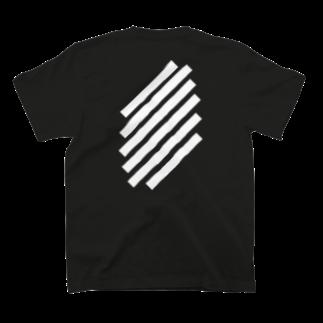 whaisonのSlashWhiteStripe T-shirtsの裏面
