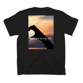 ペアルック 手でハート 右 T-Shirt