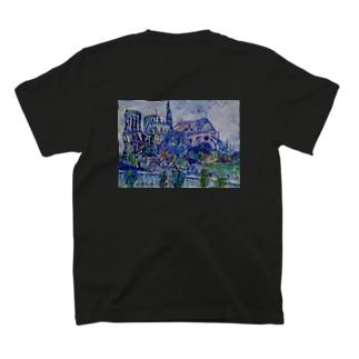 Tsubasa Nagaoのおばあちゃんの油絵03 T-shirtsの裏面