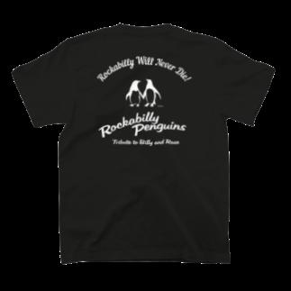 ちびきん工房のロカビリーペンギン001 T-shirtsの裏面