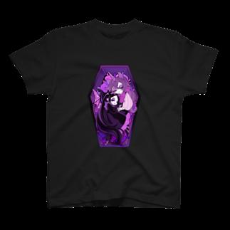 悪天🦄✨のMISERY and GREGOR in coffin T-shirts
