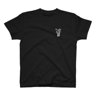 ビスケと紋黄蝶(白) T-shirts