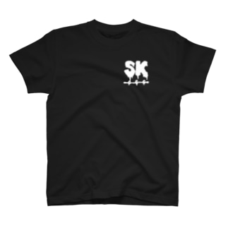 SK Strikethrough(666) Clothing - First Line Black T-shirts