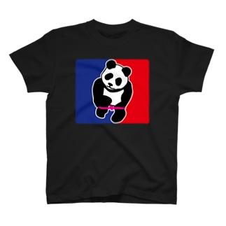 パンダトルネードパンティ脱ぎ ワイドサイズ T-shirts