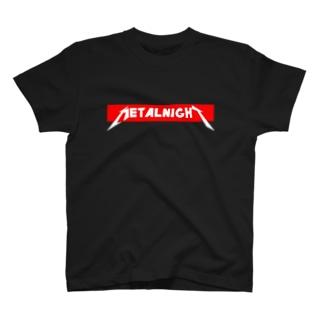 メタルナイト ボックスロゴ細身 T-shirts