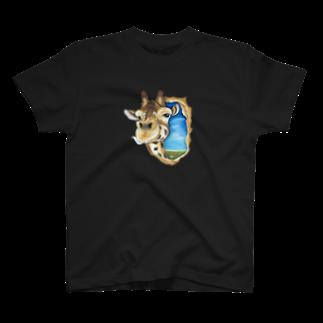 team-Aのキリンさん Tシャツ