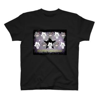 NEZIKUMA 黒 × 白 T-shirts