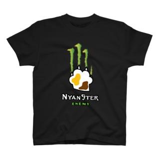 NYANSTER 三毛ねこエネミー T-shirts