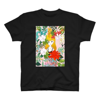 flower and girl T-shirts