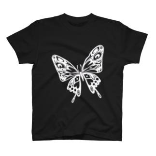 極楽蝶(白) T-shirts
