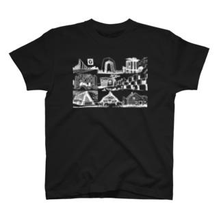 まいにちけんちく BLACK T-shirts