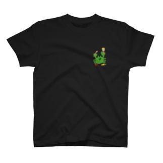 絵を描くカニ T-shirts